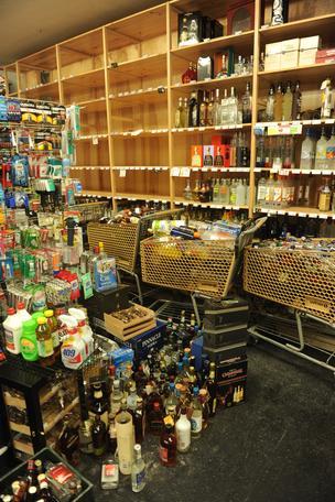 napa earthquake spilled wine bottles