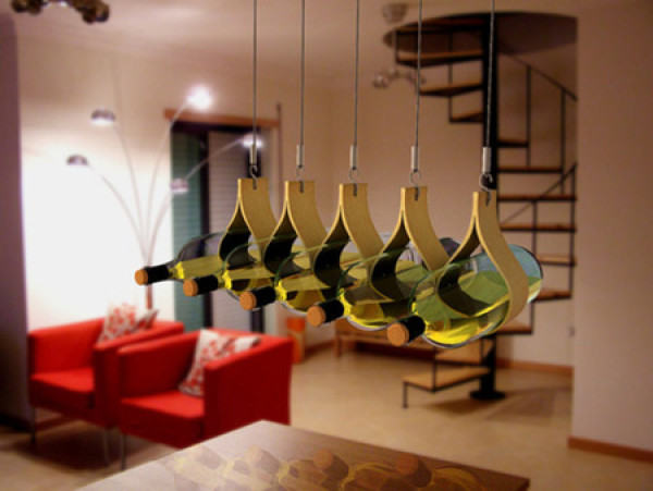 Hanging Water Drop Wine Rack