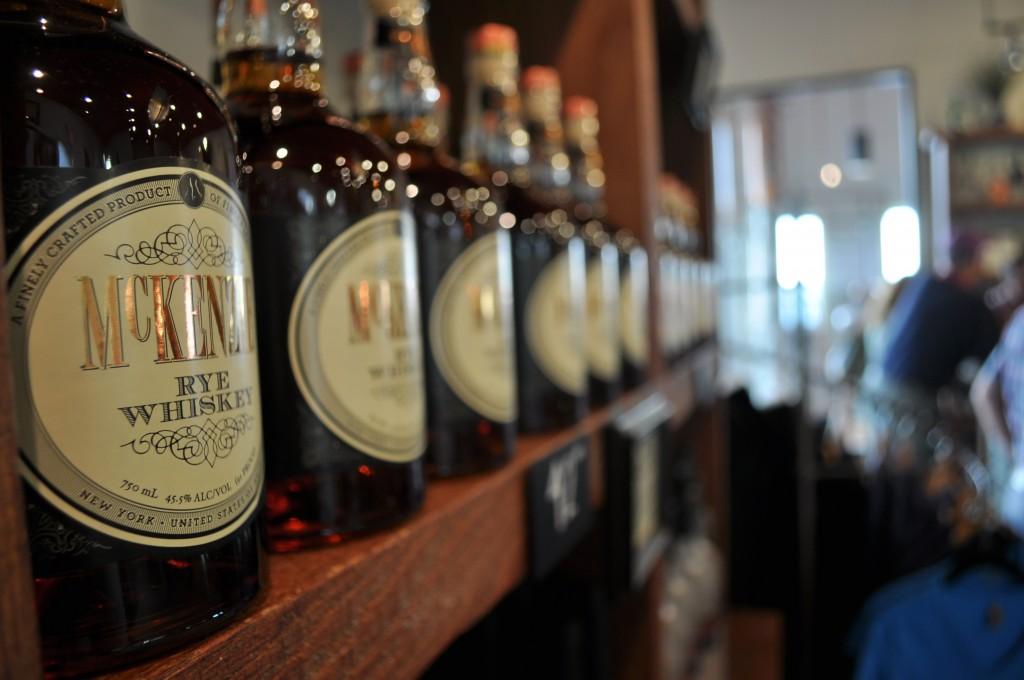 Display of rye whiskey