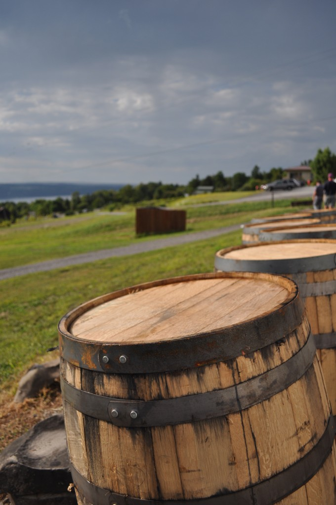 Barrels and view